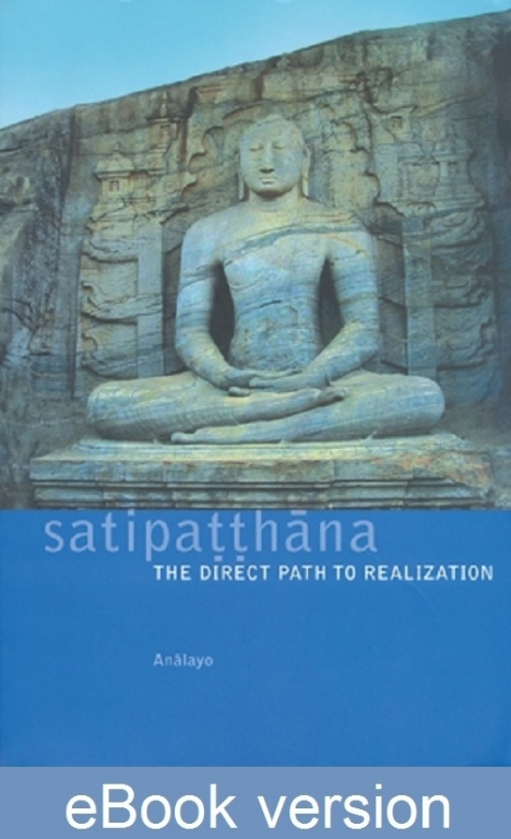 Satipatthana The Direct Path to Realization DRM-free eBook (epub and mobi formats) by Anālayo