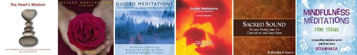 Featured Titles: Guided Meditation CDs by Bodhipaksa