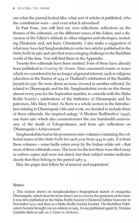 Beating the Drum: Maha Bodhi Editorials