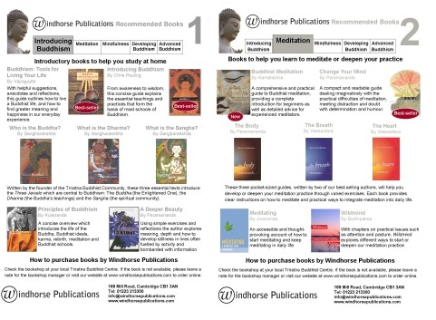 Lists of recommended books – free to download from the Windhorse website